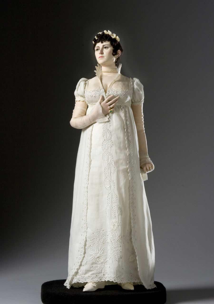 Full length color image of Josephine Bonaparte aka. Joséphine de Beauharnais, by George Stuart.