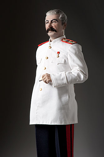 Portrait length color image of Joseph Stalin aka.  Ioseb Besarionis dze Jugashvili, Ио́сиф Виссарио́нович Ста́лин , by George Stuart.