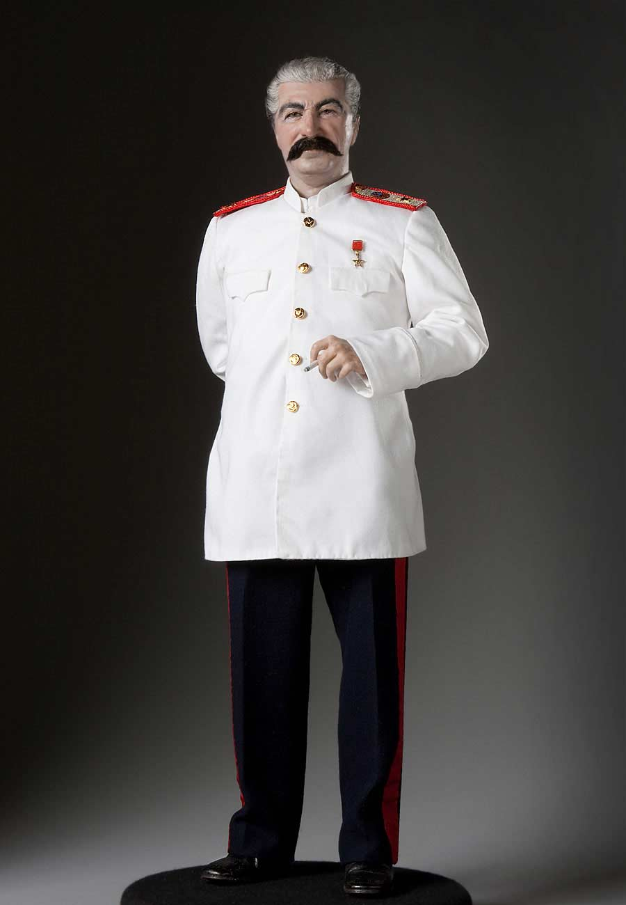Full length color image of Joseph Stalin aka.  Ioseb Besarionis dze Jugashvili, Ио́сиф Виссарио́нович Ста́лин , by George Stuart.