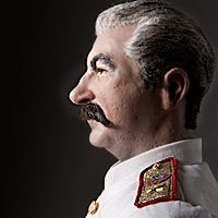 Right closup color image of Joseph Stalin aka.  Ioseb Besarionis dze Jugashvili, Ио́сиф Виссарио́нович Ста́лин , by George Stuart.