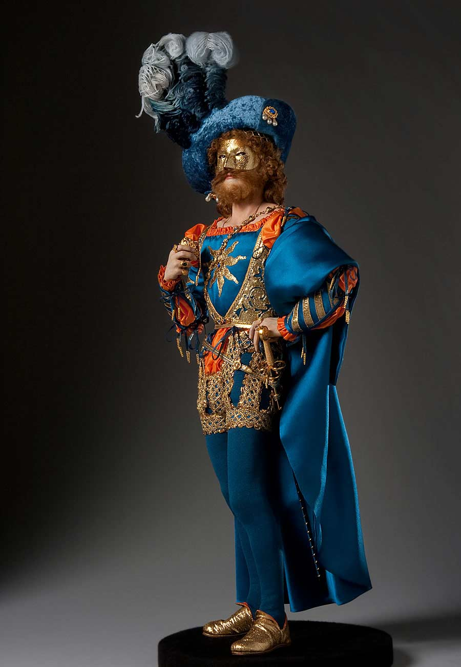 Full length color image of Juan Borgia aka. Duke of Gandía, by George Stuart.