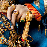 Left close up color image of Juan Borgia aka. Duke of Gandía, by George Stuart.
