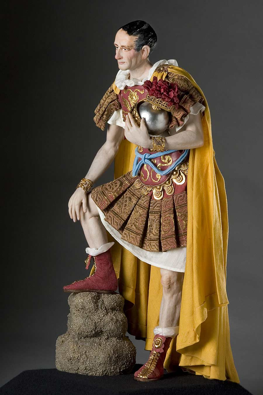 Full length color image of Julius Caesar aka. Gaius Julius Caesar, by George Stuart.