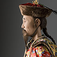 Right closup color image of Kang Hsi Emperor aka. Kangxi Emperor, by George Stuart.
