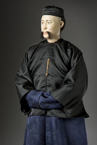 Portrait length color image of K'ang Yu-Wei aka. Kang Youwei , by George Stuart.