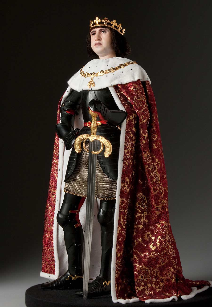 Full length color image of King Ferdinand 1478 aka. Fernando el Católico, by George Stuart.