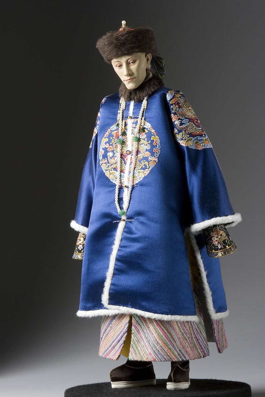 Full length color image of Kuang-Hsu Emperor aka. Guangxu Emperor, by George Stuart.