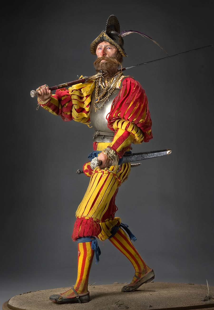 Full length color image of Landsknecht aka.