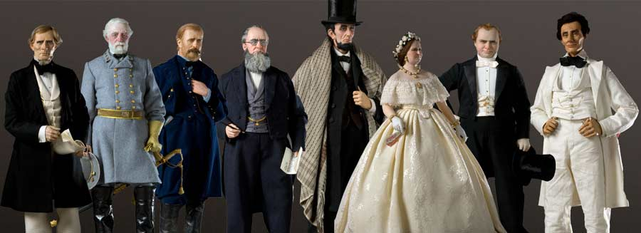 Selected Civil War Figures Davis Lee Grant Stanton Lincoln Douglas  sc 1 st  Gallery of Historical Figures : jefferson davis costume  - Germanpascual.Com