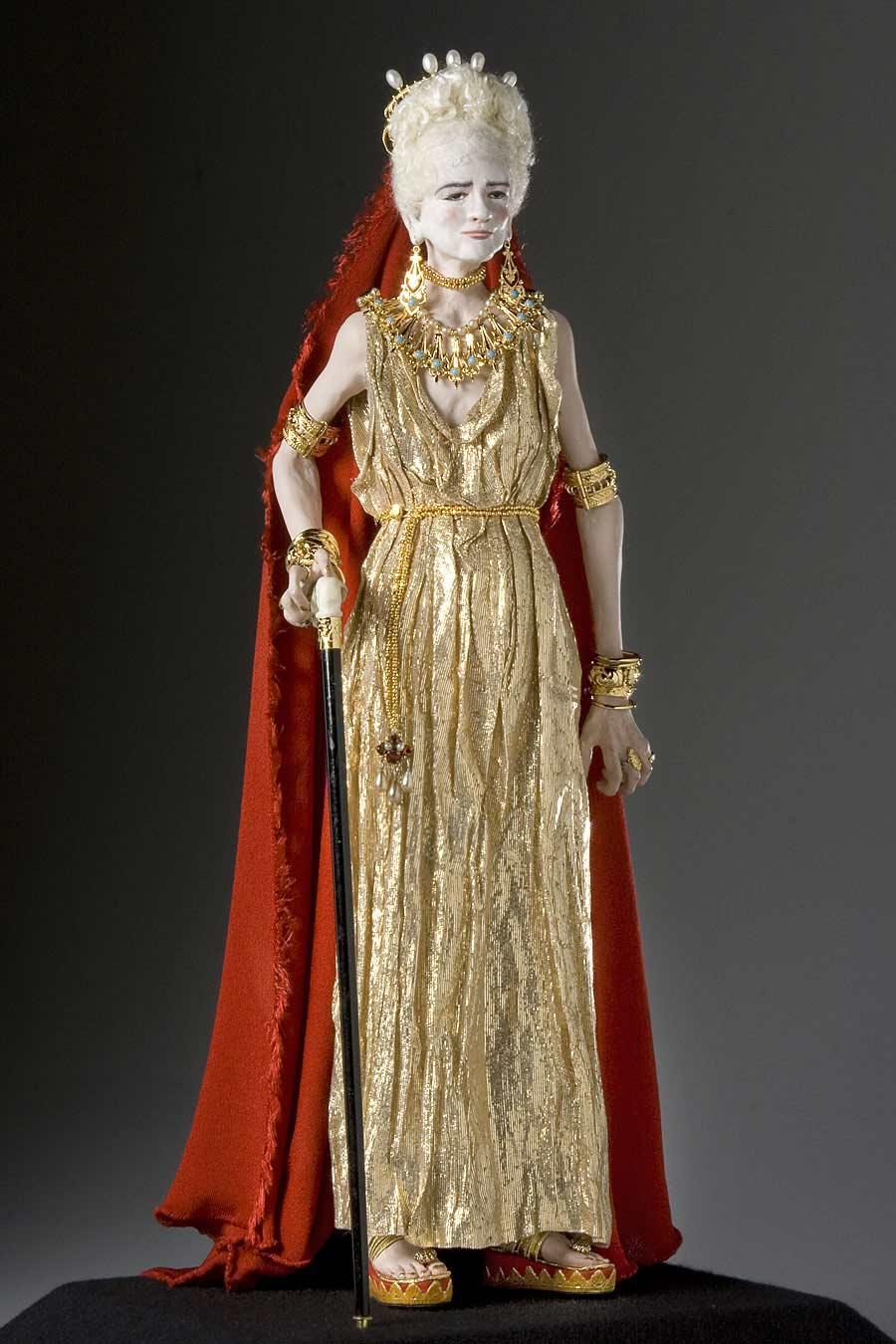 Full length color image of Livia Drusilla Augusta aka. Julia Augusta, by George Stuart.