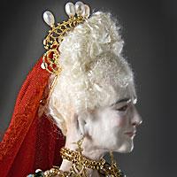 Left close up color image of Livia Drusilla Augusta aka. Julia Augusta, by George Stuart.