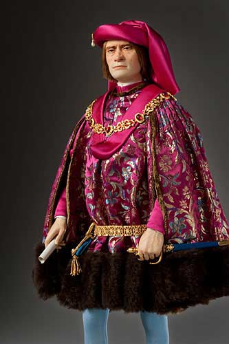 Portrait length color image of Lorenzo de Medici aka. Lorenzo the Magnificent, by George Stuart.