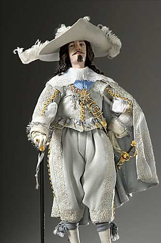 Portrait length color image of Louis XIII aka. Louis XIII of France,