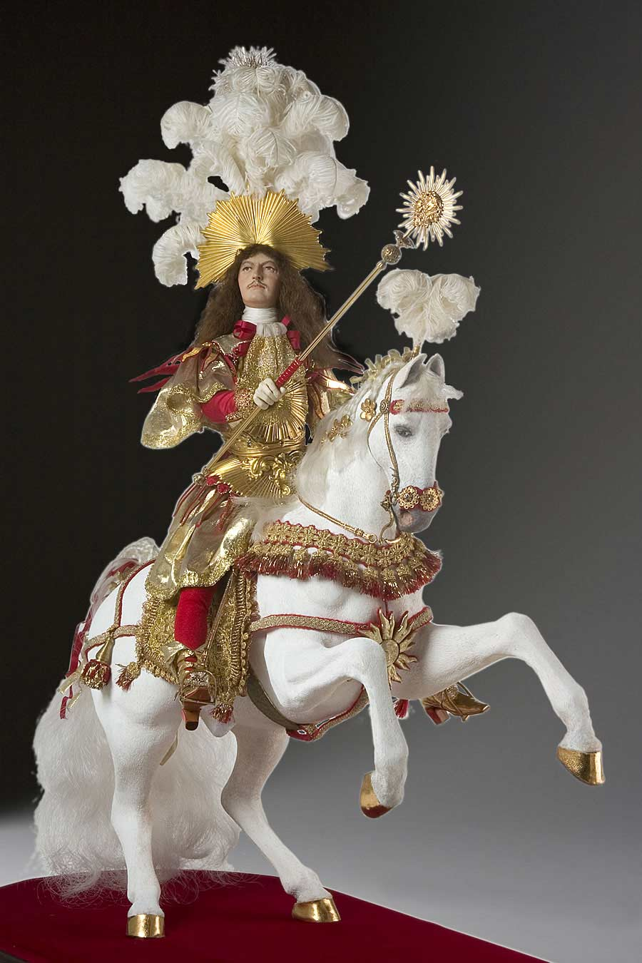 Full length color image of Louis XIV (equestrian) aka. Louis XIV of France,