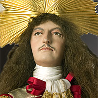 Right closup color image of Louis XIV (equestrian) aka. Louis XIV of France,