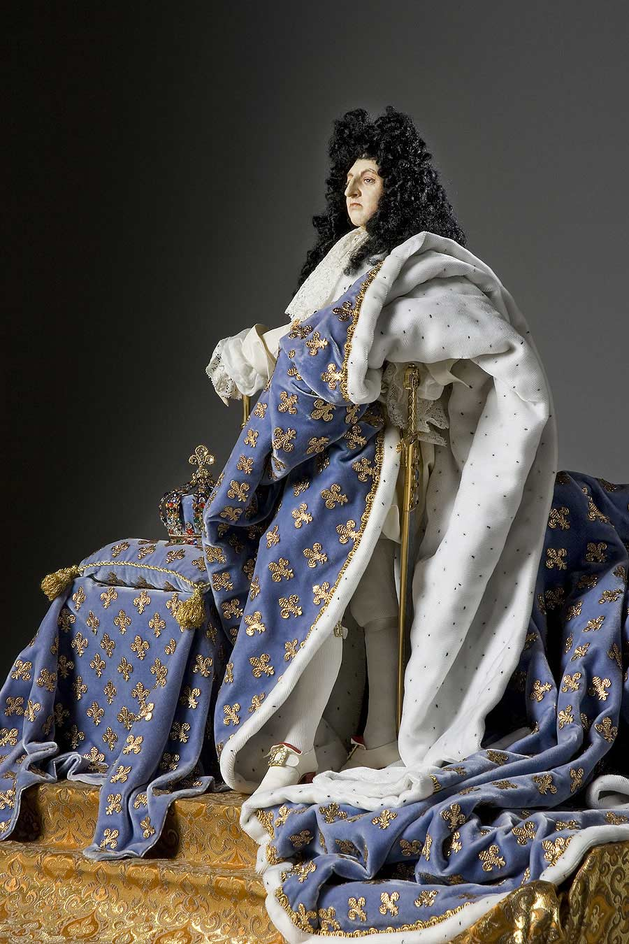 Full length color image of Louis XIV (robes of state) aka. Louis XIV of France,
