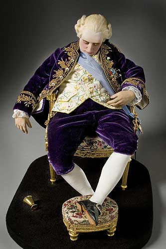 Portrait length color image of Louis XVI 1780 (seated) aka.