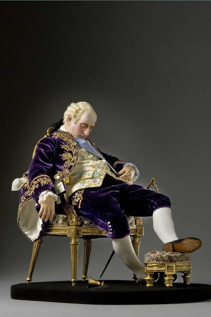 Full length color image of Louis XVI 1780 (seated) aka.