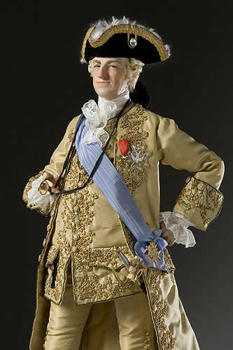 Portrait length color image of Louis XV 1774 aka.