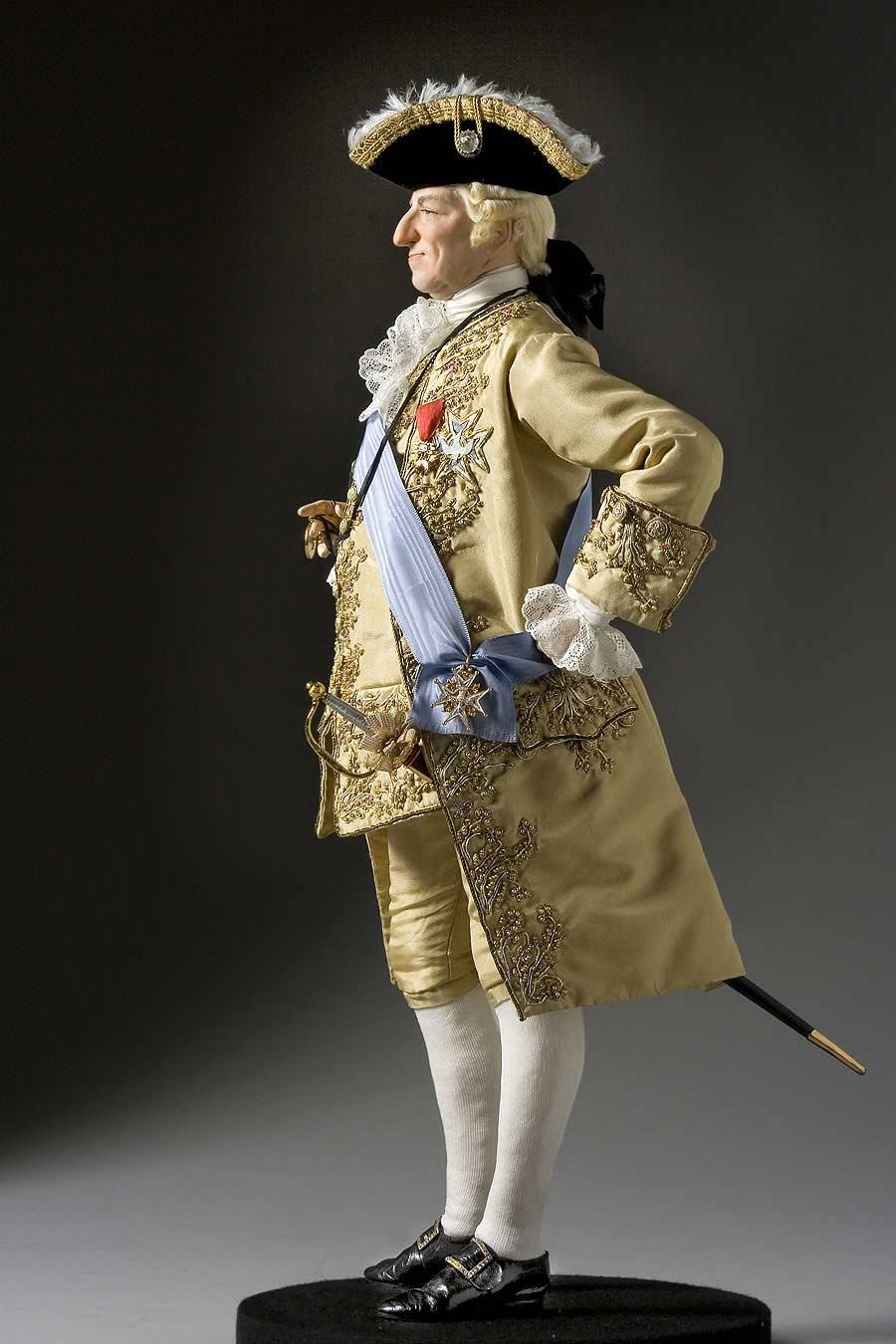 Full length color image of Louis XV 1774 aka.