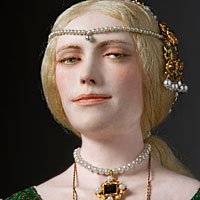 Right closup color image of Lucrezia Borgia aka. Duchess of Ferrara, by George Stuart.