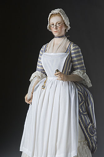Portrait length color image of Mercy Otis Warren, by George Stuart.