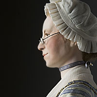 Right closup color image of Mercy Otis Warren, by George Stuart.