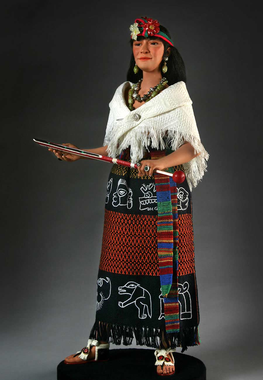 Full length color image of Malinche aka.  Doña Marina, by George Stuart.