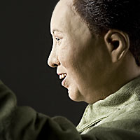 Right closup color image of Mao Zedong aka. Mao Tse-Tung, by George Stuart.