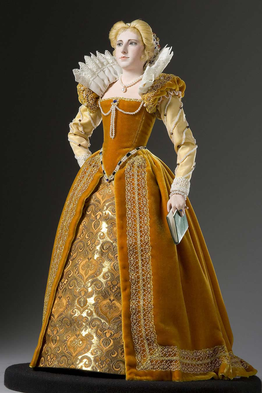 Full length color image of Marguerite de Valois aka. Margaret of France, by George Stuart.