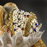 Left close up color image of Marguerite de Valois aka. Margaret of France, by George Stuart.