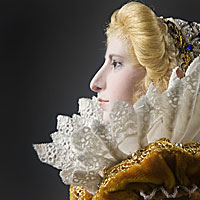 Right closup color image of Marguerite de Valois aka. Margaret of France, by George Stuart.