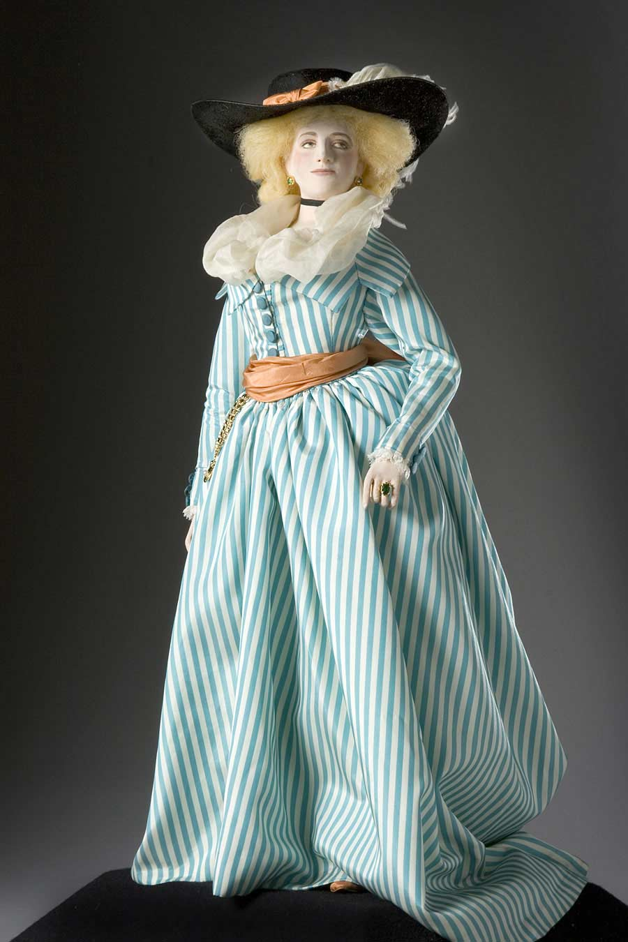 Full length color image of Maria Fitzherbert (young), by George Stuart.