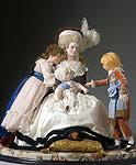 Thumbnail color image of Marie Antoinette (children), by George Stuart.