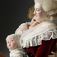 Left close up color image of Marie Antoinette (children), by George Stuart.