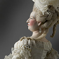Right closup color image of Marie Antoinette (at court) aka.
