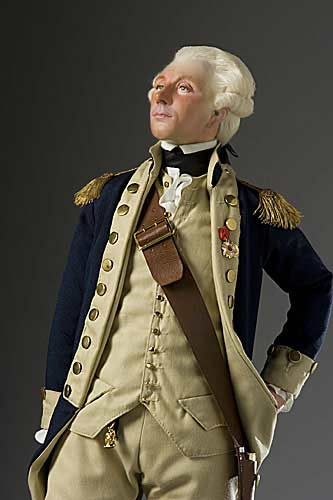 Portrait length color image of Marquis de Lafayette aka. Marie-Joseph Paul Yves Roch Gilbert du Motier, by George Stuart.