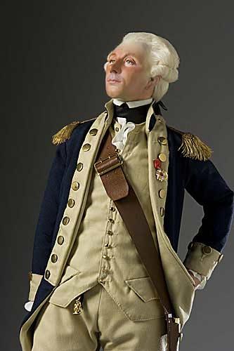 Portrait length color image of Marquis de Lafayette aka. Lafayette, by George Stuart.