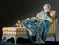 Thumbnail color image of  Madame de Pompadour (reclined) aka.