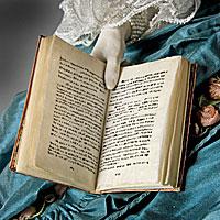 Left close up color image of  Madame de Pompadour (reclined) aka.