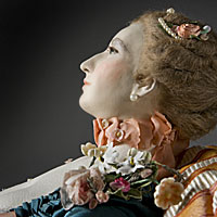 Right closup color image of  Madame de Pompadour (reclined) aka.
