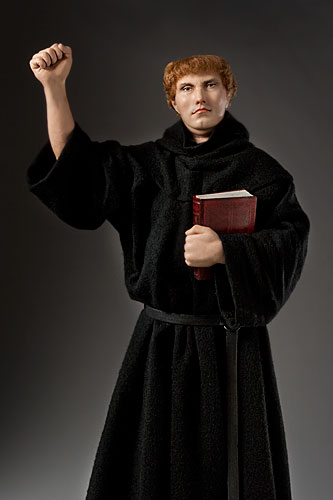 Portrait length color image of Martin Luther, by George Stuart.