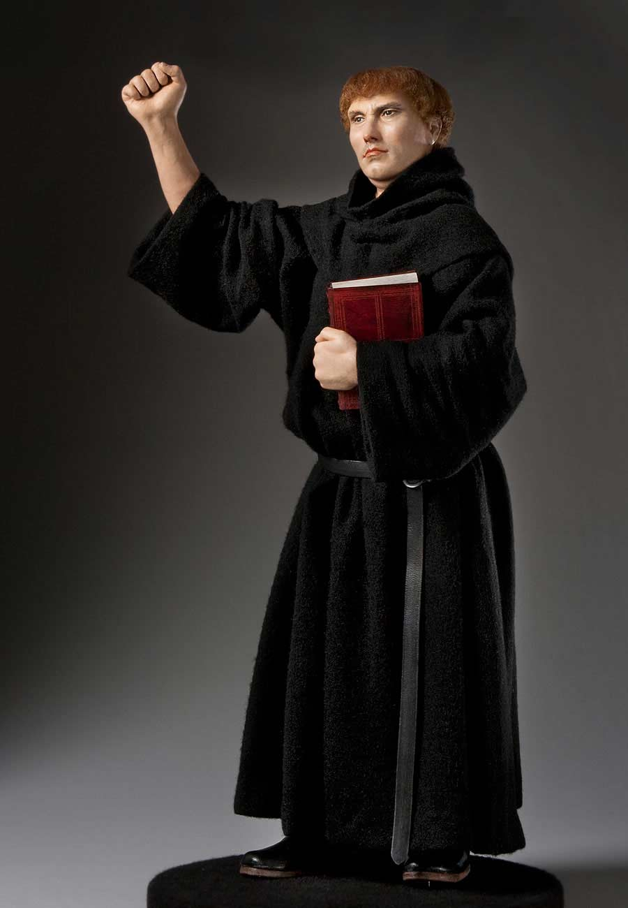 Full length color image of Martin Luther, by George Stuart.