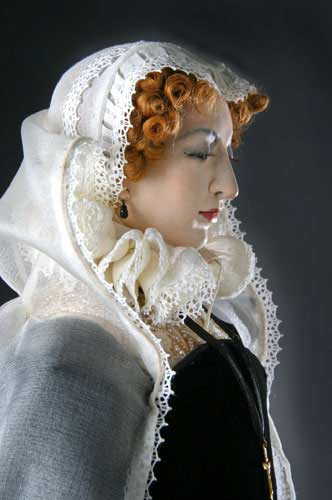 Portrait length color image of Mary Stuart aka. Mary Queen of Scots, by George Stuart.