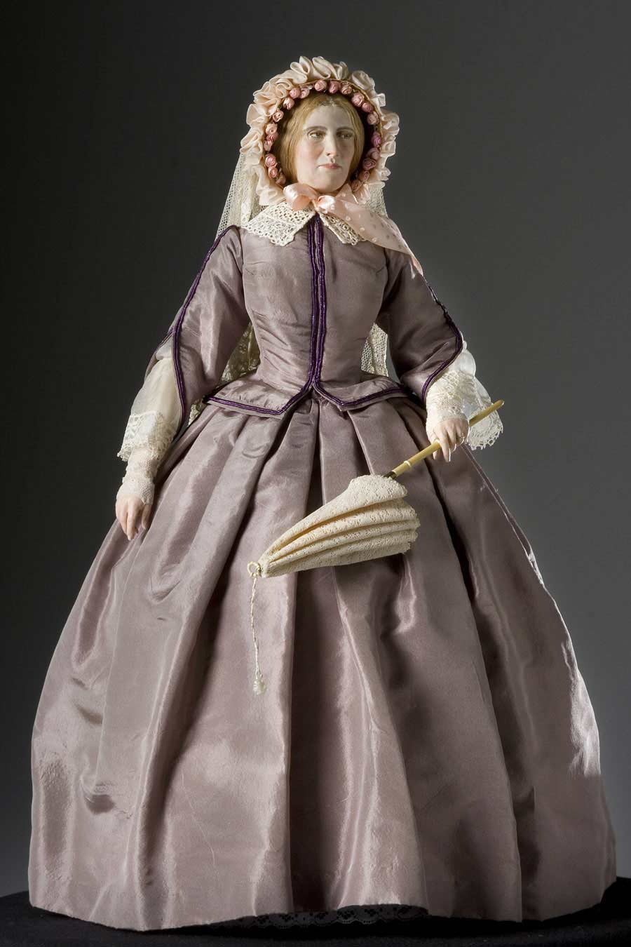Full length color image of Mary Todd Lincoln aka.
