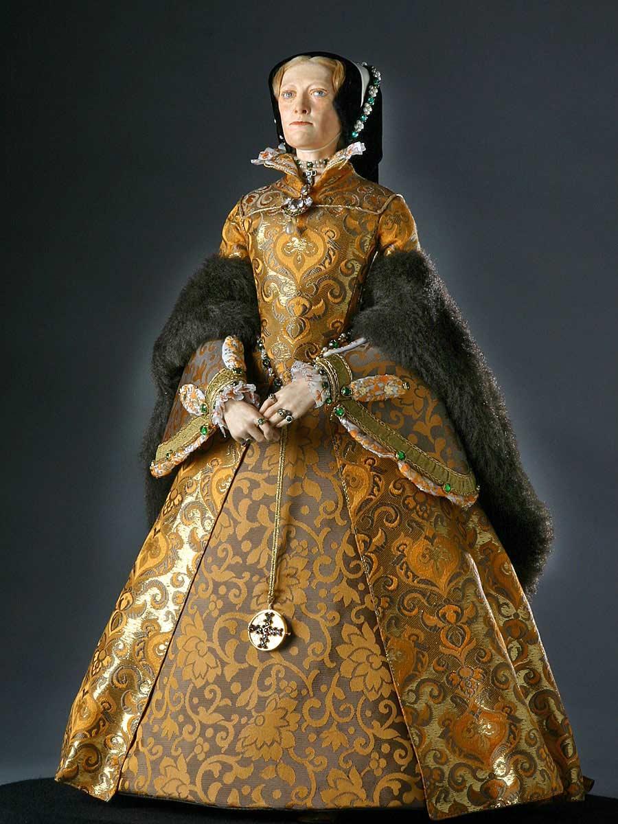 Full length color image of Mary Tudor aka.