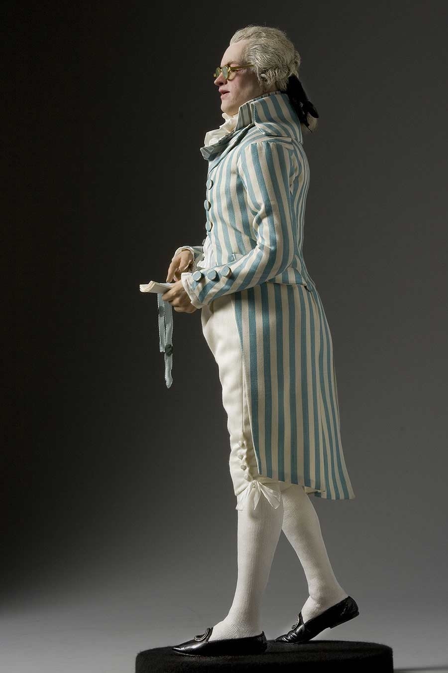 Full length color image of Maximilien Robespierre aka. President of the National Convention, by George Stuart.