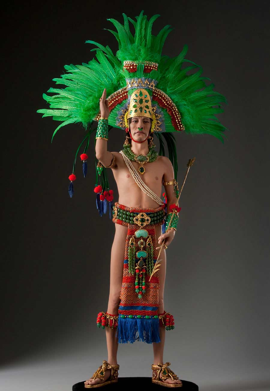 Full length color image of Moctezuma II v.2 aka. Montezuma, by George Stuart.