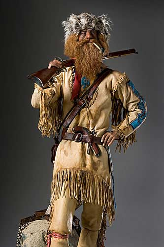 Portrait length color image of American Mountain Man, by George Stuart.