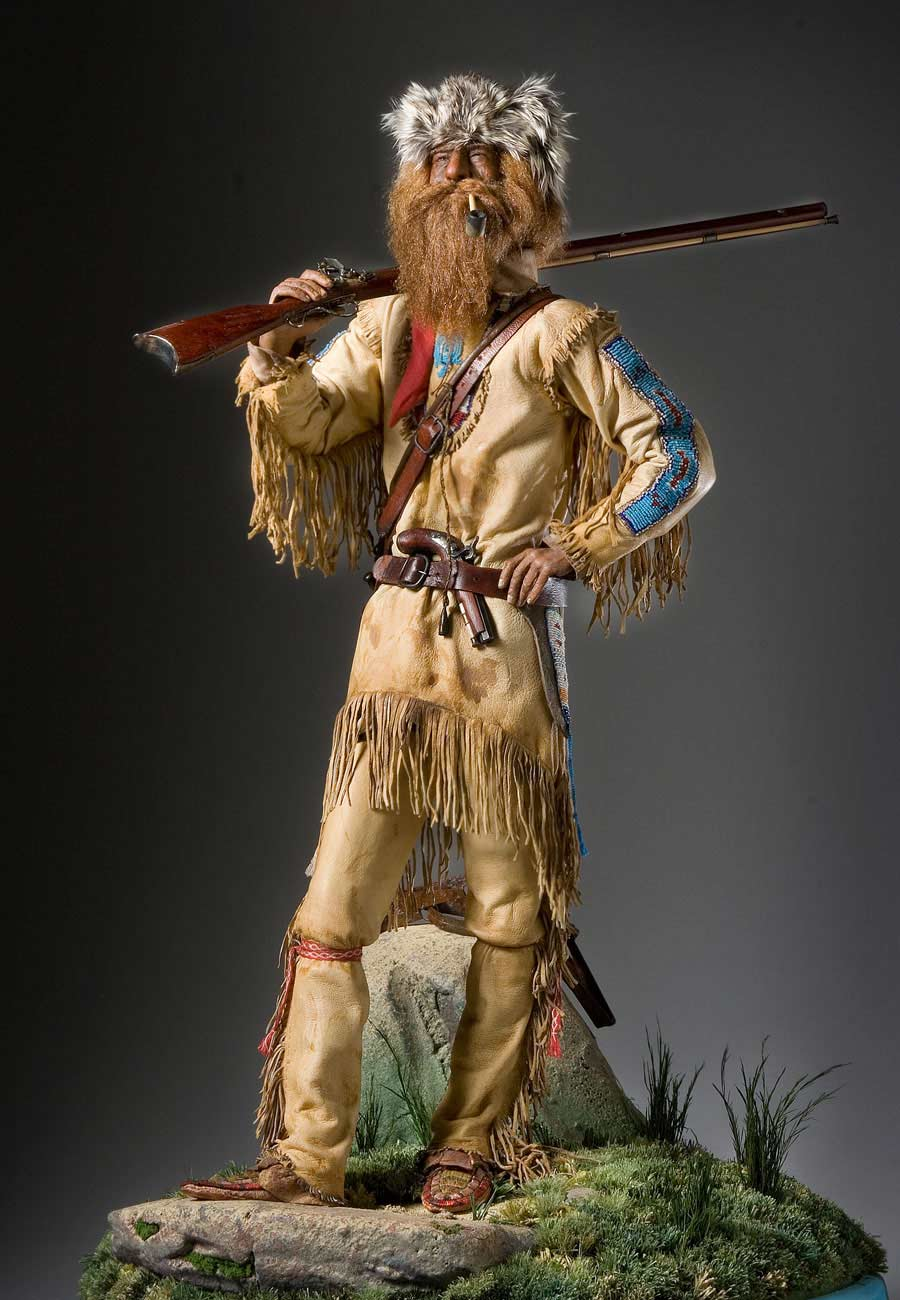Full length color image of American Mountain Man, by George Stuart.